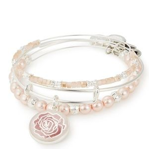 NWT Alex and Ani ROSE Art Infusion Set of 3